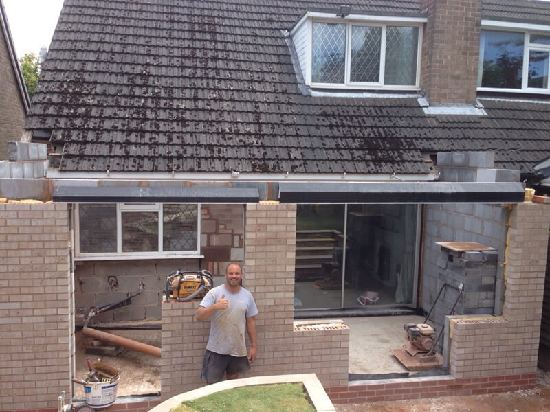 Two storey rear extension,  kitchen dinner and bedroom